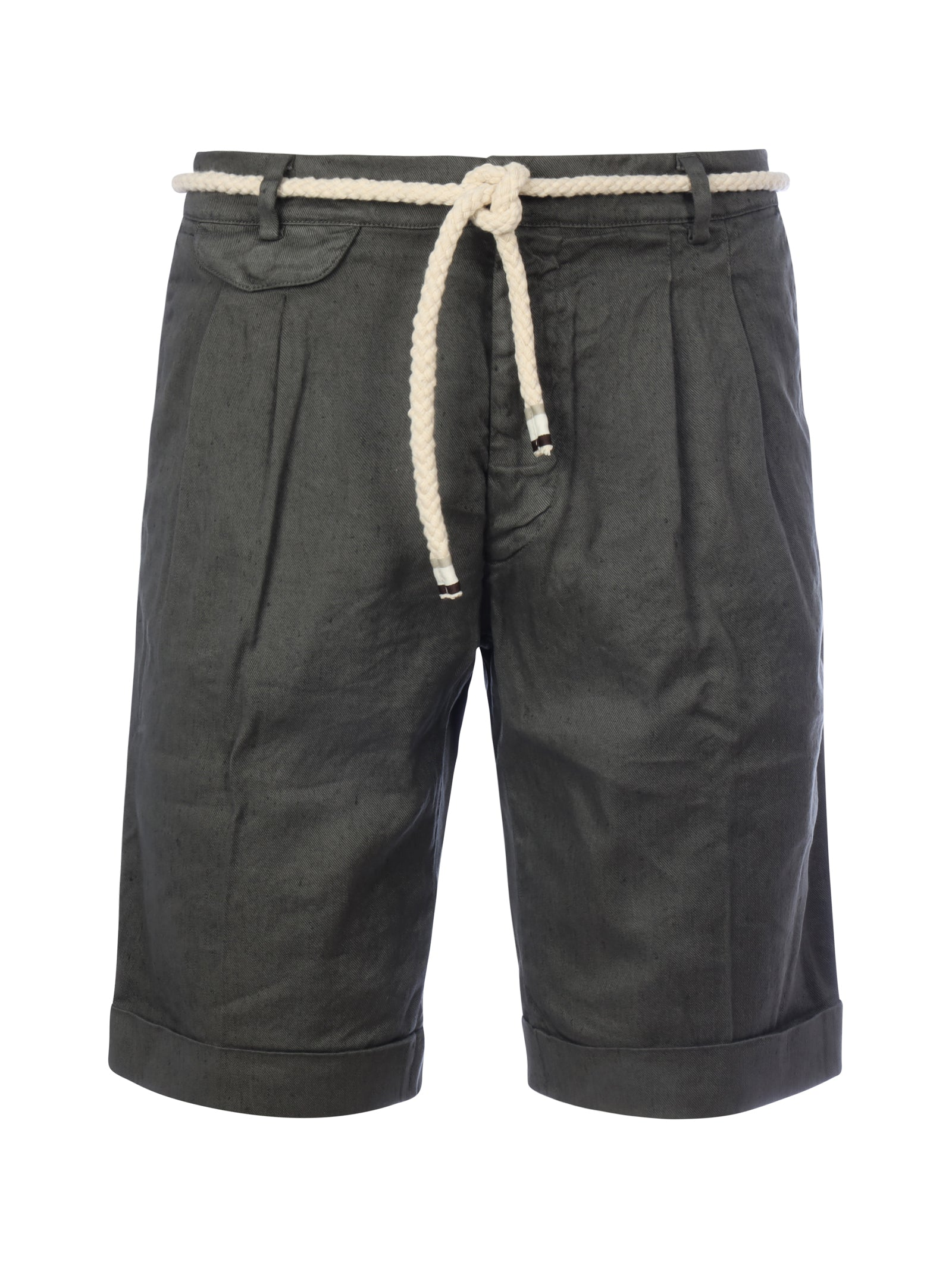 Shorts con cordoncino in vita