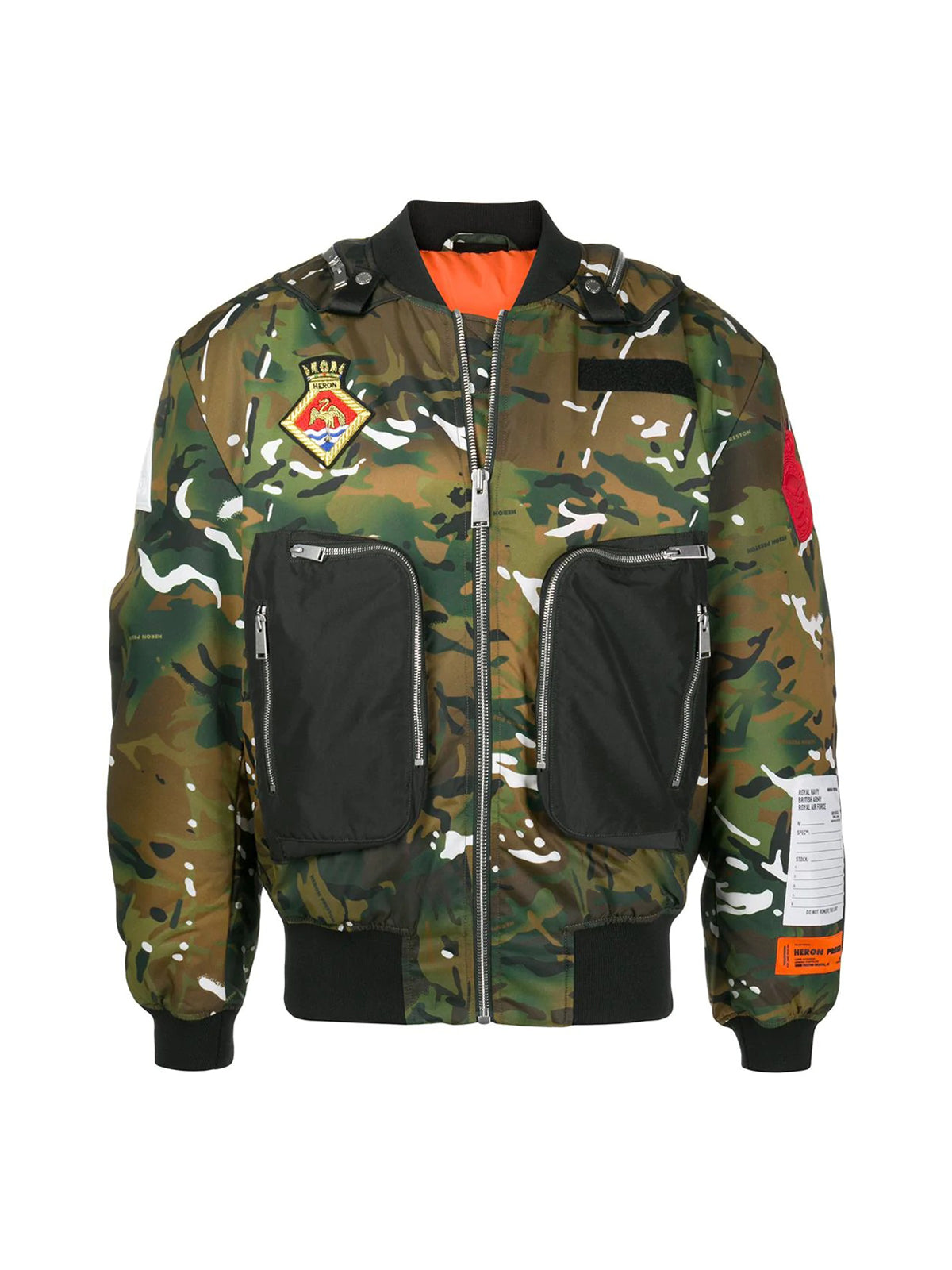 Bomber con stampa camouflage