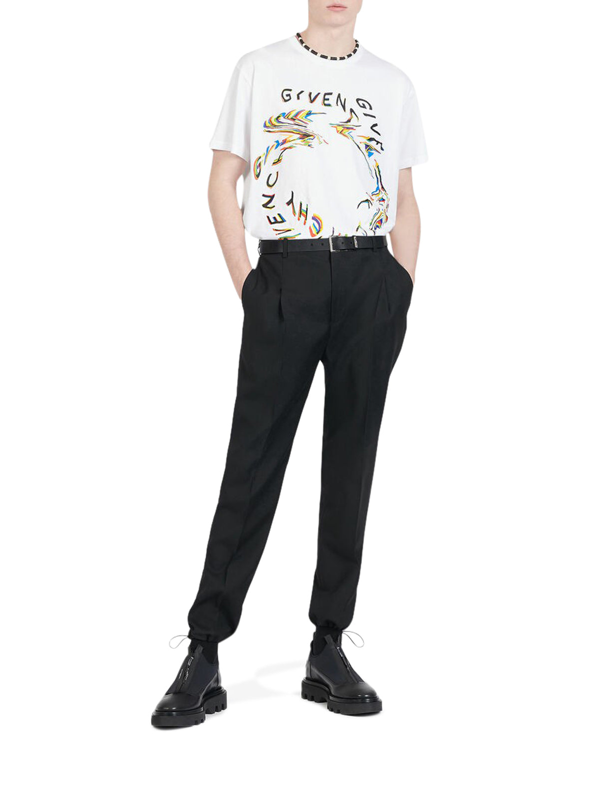 T-SHIRT CON STAMPA GIVENCHY GLITCH