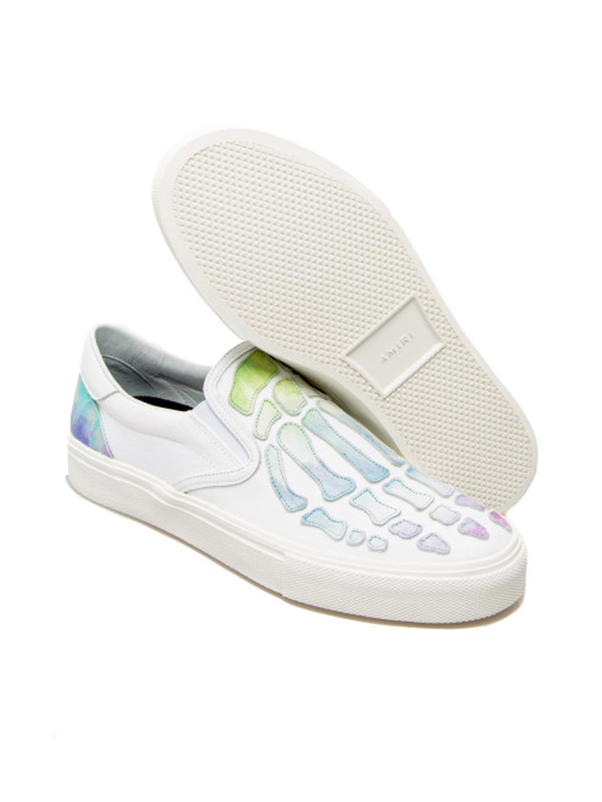 Watercolor Skel Toe Slip On