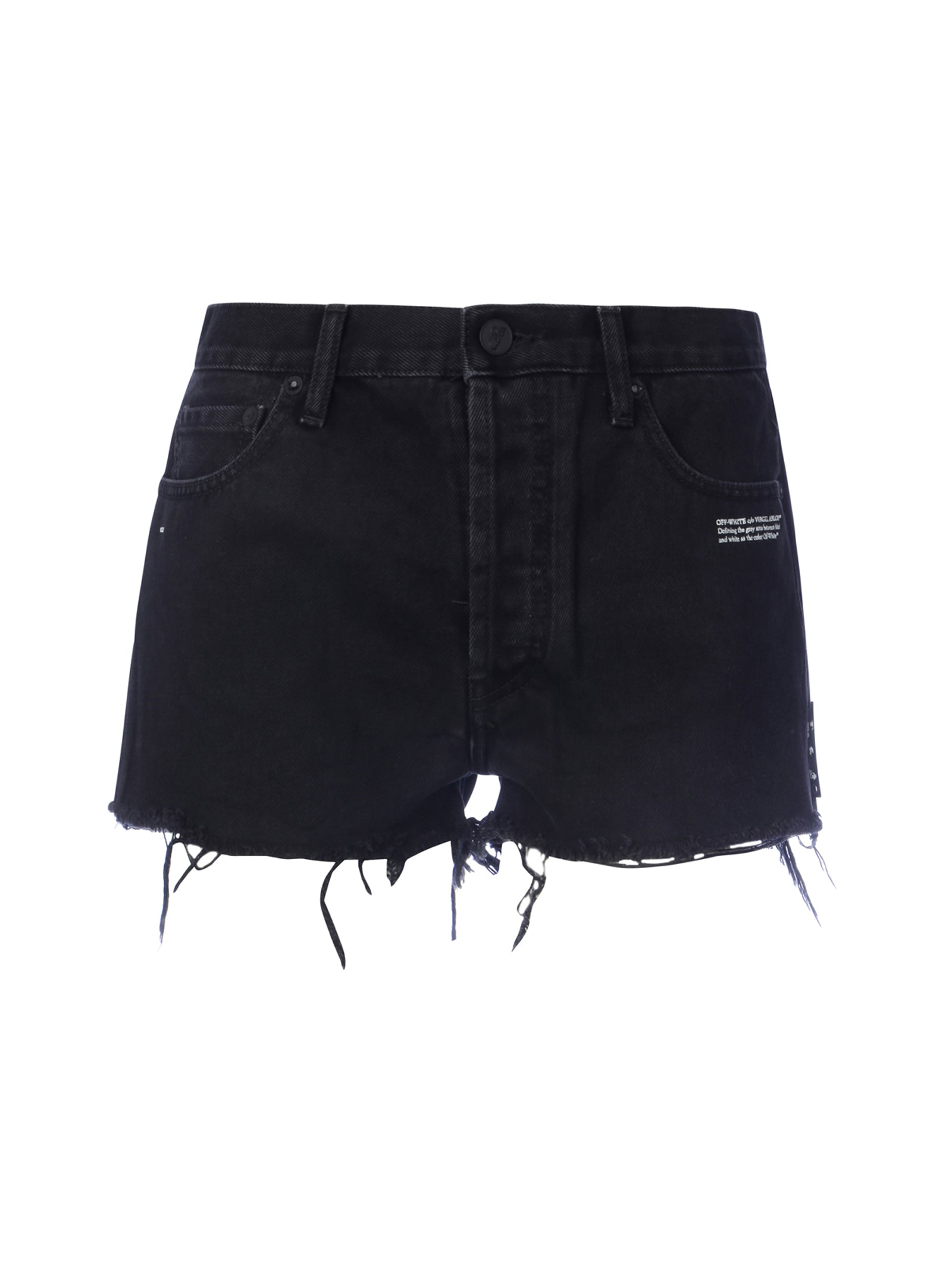 Shorts denim sfrangiati
