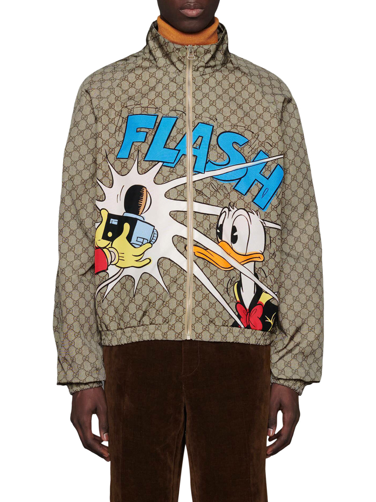 Giacca in nylon GG Donald Duck Disney x Gucci