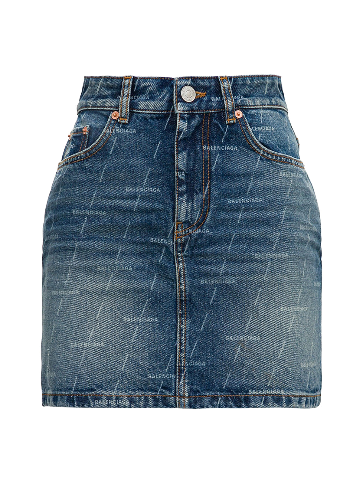 MINIGONNA IN DENIM con logo