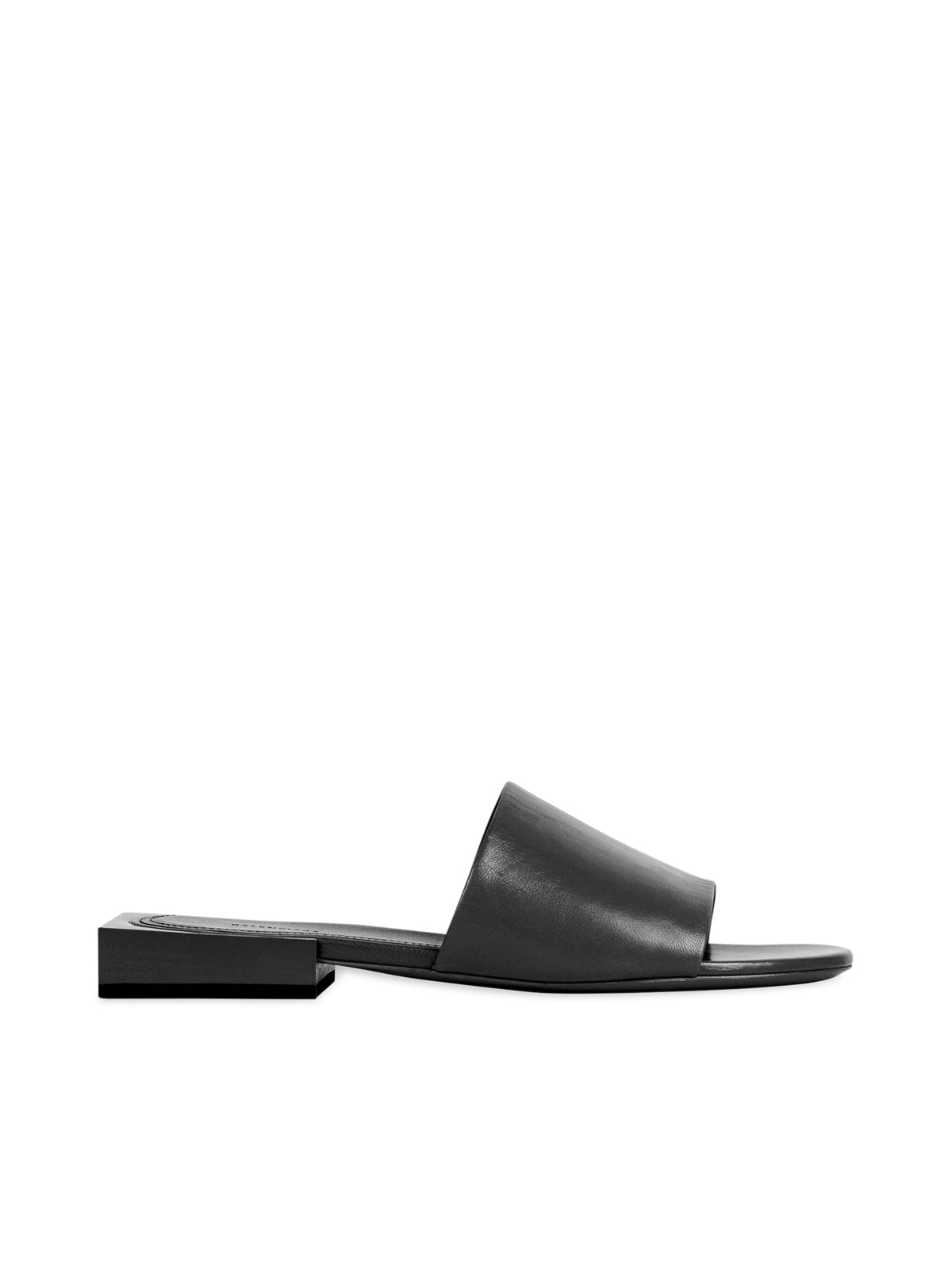 Sandali slip-on Box in pelle con logo