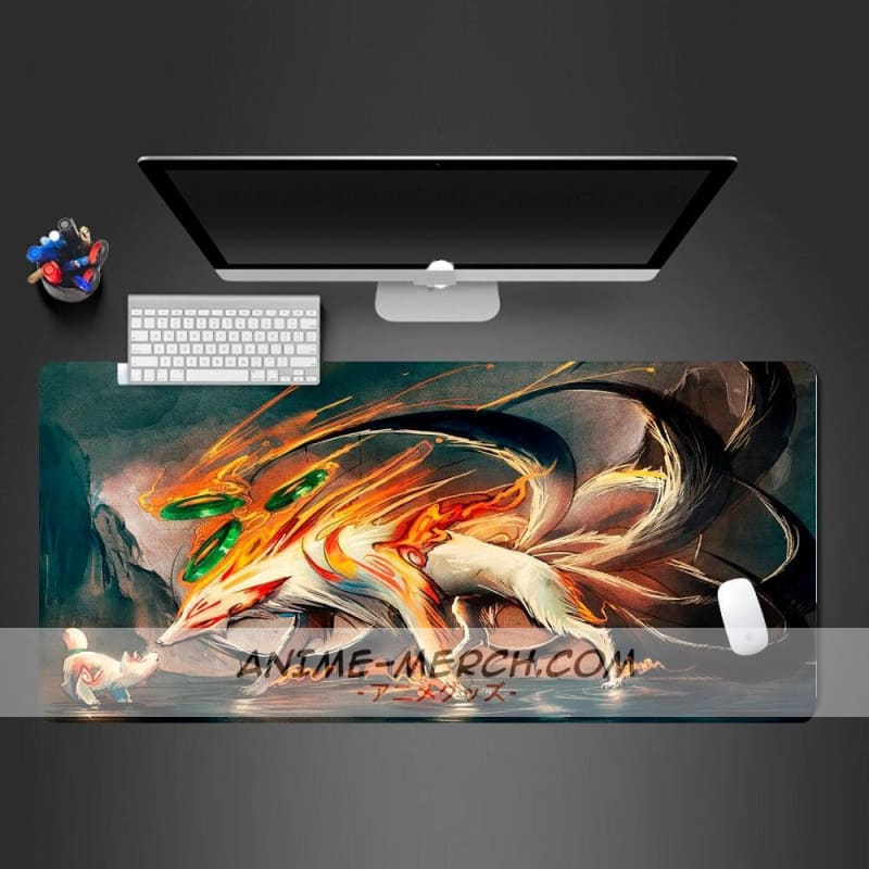 hot selling extra large mouse pad cool naruto anime gaming mousepad anti slip natural rubber gaming mouse mat with locking edge