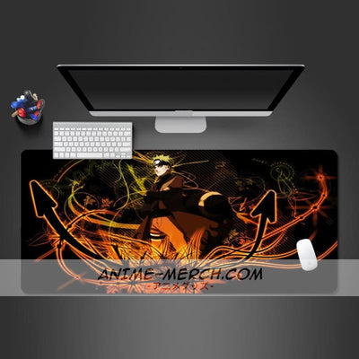 super popular japanese anime naruto mouse pad high quality natural rubber large lock edge game mouse pad washable notebook mats