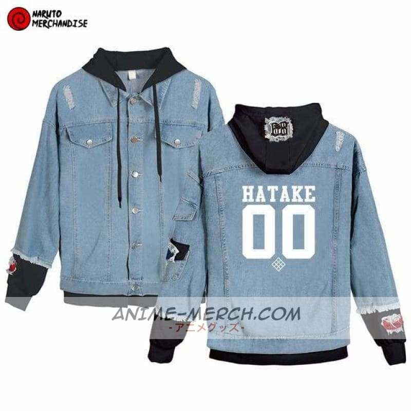 naruto jacket kakashi hatake clan denim