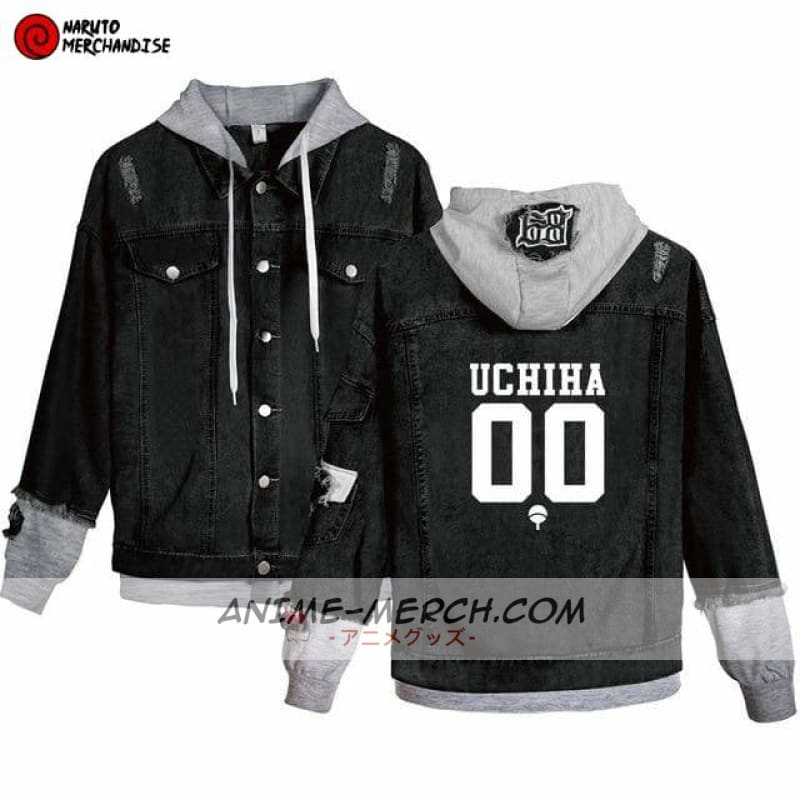 naruto jacket uchiha team denim