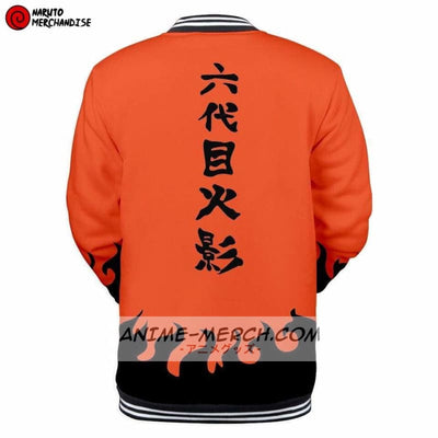 Anime Baseball Varsity Jacket <br>Sixth Hokage (Orange)