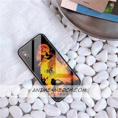 Tempered Glass Phone Case Anime