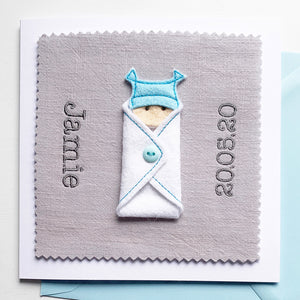 Custom New Baby Boy Card