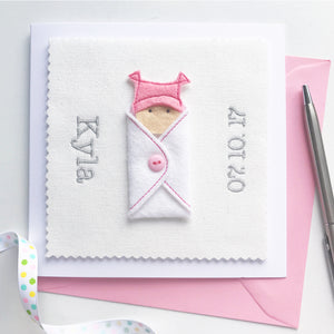 Custom New Baby Girl Card