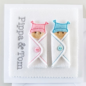 Custom Twins Name Card