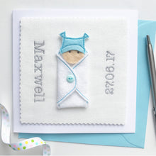 Load image into Gallery viewer, Custom New Baby Boy Card