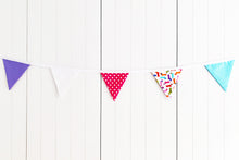 Load image into Gallery viewer, Sew Your Own Bunting Kit - Spotty Sausage Dogs