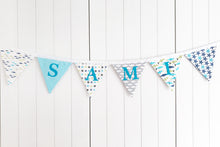 Load image into Gallery viewer, Little Fish Name Bunting