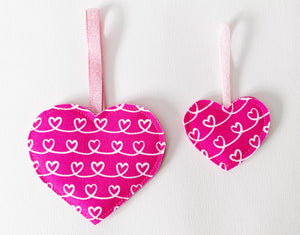 FREE Tutorial - Sew Your Own Valentines Heart Decorations - PDF Download