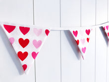 Load image into Gallery viewer, Sew Your Own Mini Bunting Kit - Valentine Hearts