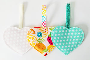 Valentine Hearts Decorations - Spotty and Tropical