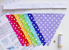 Load image into Gallery viewer, Sew Your Own Mini Bunting Kit - Rainbow Dots