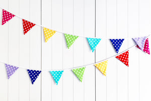 Sew Your Own Bunting Kit - Rainbow Polka Dot