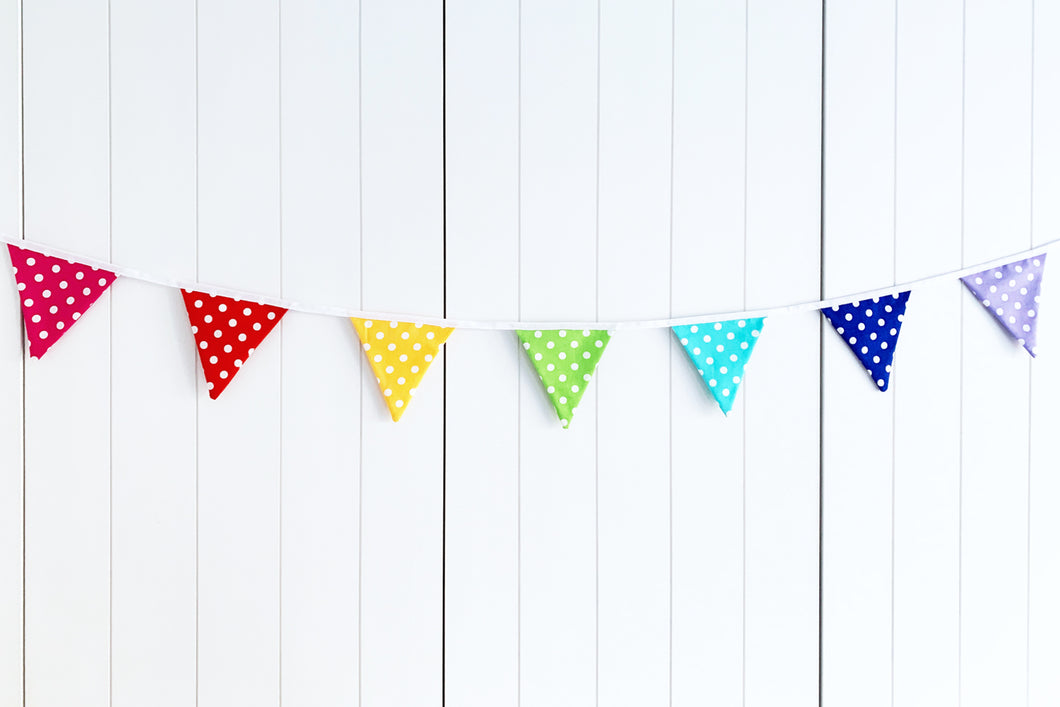 Sew Your Own Mini Bunting Kit - Rainbow Dots