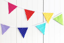 Load image into Gallery viewer, Sew Your Own Bunting Kit - Rainbow Polka Dot