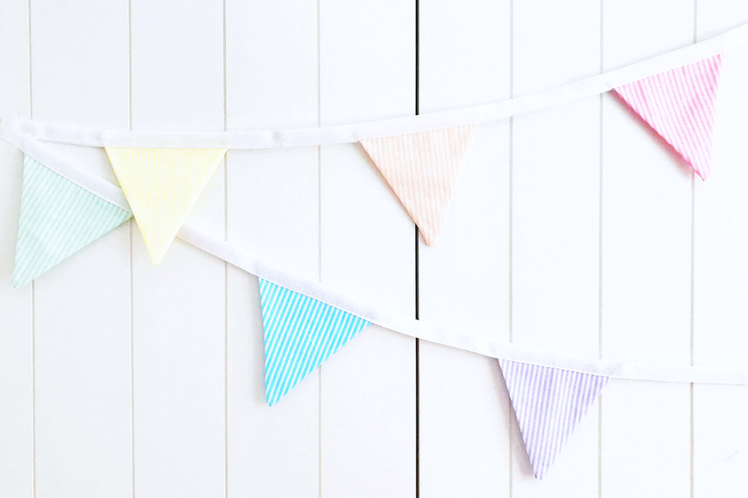 Sew Your Own Mini Bunting Kit - Rainbow Candy Stripe