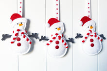 Load image into Gallery viewer, Christmas Santa Snowman Decoration