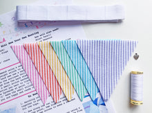 Load image into Gallery viewer, Sew Your Own Mini Bunting Kit - Rainbow Candy Stripe