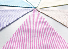 Load image into Gallery viewer, Rainbow Candy Stripe Bunting