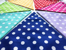Load image into Gallery viewer, Rainbow Polka Dot Bunting