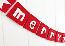 Load image into Gallery viewer, Merry Christmas Mini Bunting