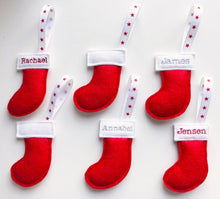 Load image into Gallery viewer, Mini Personalised Christmas Stocking Decoration