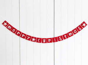 Merry Christmas Mini Bunting