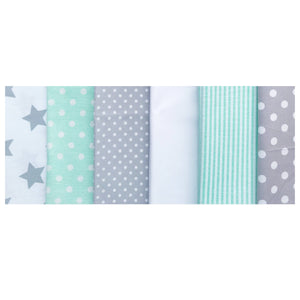Mint Green Grey Name Bunting - Glitter Lettering