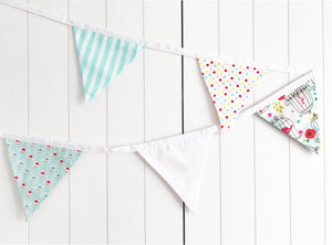 Turquoise Birds Bunting