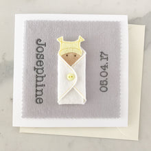 Load image into Gallery viewer, Custom New Baby Girl Card