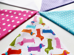 Dachshund Bunting - Mini Sausage Dogs