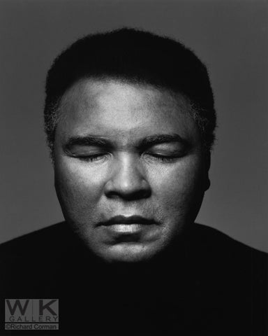Muhammad Ali eyes closed by Richard Corman
