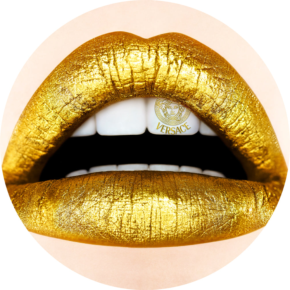 LIPS  Versace 1  by Guiliano Bekor MOUNTED PRINT