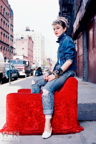 Madonna NYC '83 SHOW Madonna Red Chair