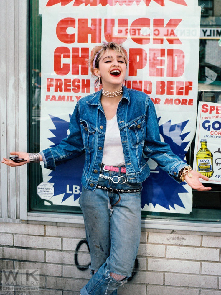 Madonna NYC '83 SHOW Madonna Bodega by Richard Corman
