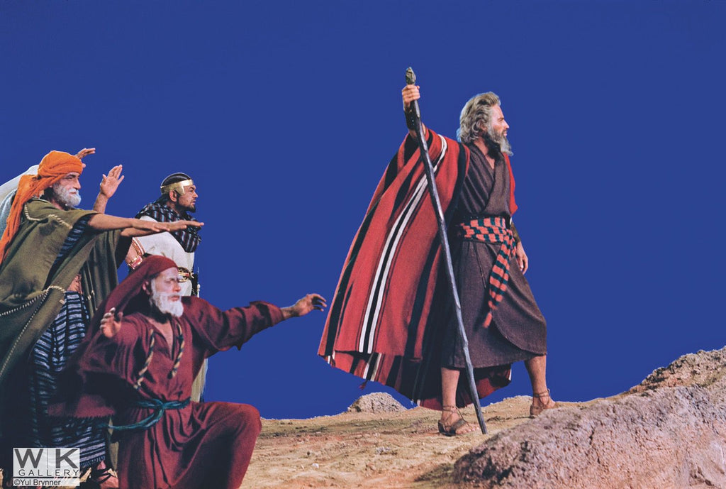Charlton Heston - Ten Commandments  by Yul Brynner
