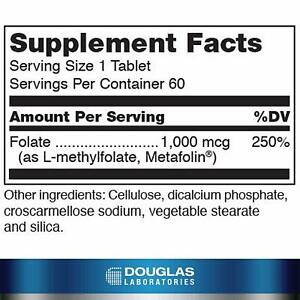 Methyl Folate L-5-MTHF Tablets, 60 ct