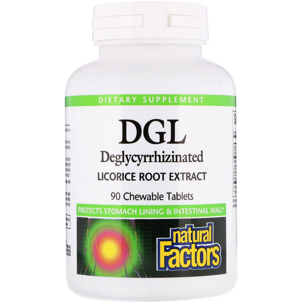 Deglycyrrhizinated Licorice Root Extract Chewable Tablets, 180ct