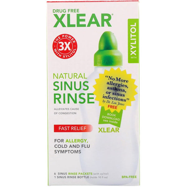 Xlear Sinus Netirinse Bottle Plus, 6 pkts