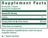 Nettle Leaf Capsules, 60 ct