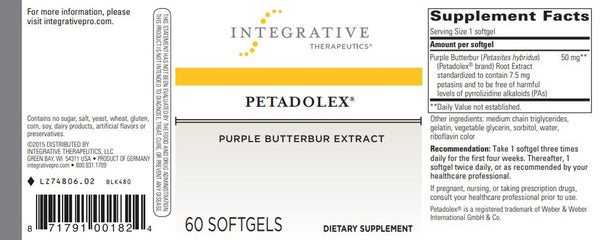 Petadolex Softgels, 60 ct
