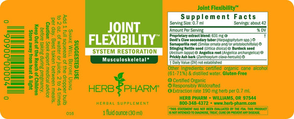 Joint Flexibility Liquid Extract, 1oz